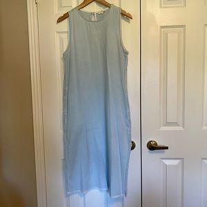 Light jean dress.